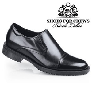 Shoes For Crews Black Statesman Shoe for Men (1202)