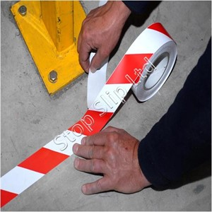 Red / White Permastripe Aisle Marking Tape