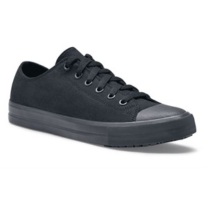 Shoes For Crews Delray Canvas Black Shoe for Men (38852)