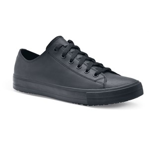 Shoes For Crews Delray Leather Black Shoe for Men (38649)