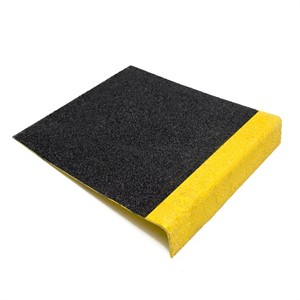 Heavy Duty BLACK GRP Anti Slip Stair Tread With YELLOW Nose ST55