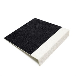 Heavy Duty BLACK GRP Anti Slip Stair Tread WHITE Nose ST55