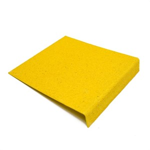 Heavy Duty GRP Anti Slip Stair Tread COMPLETE YELLOW ST55