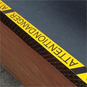 Black and Yellow Attention Danger Anti-Slip Tape
